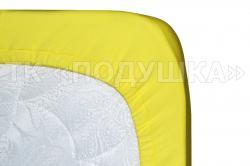 Трикотажная простынь на резинке «Желтая»