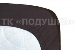 Трикотажная простынь на резинке «Горький шоколад»