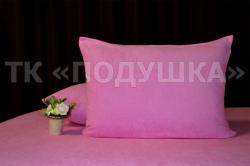 Купить розовые махровые наволочки на молнии в Новосибирске