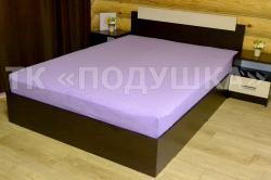 Купить фиолетовую махровую простынь на резинке в Новосибирске