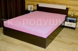 Купить розовую махровую простынь на резинке в Новосибирске